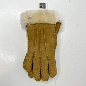 UGG Medium Leather Fur Gloves